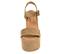 Ref: 4294 Sandalia de serraje visón con pala y pulsera al tobillo con hebilla plateada. Plataforma de serraje al tono. Altura plataforma trasera de 11 cm y plataforma delantera de 7 cm - Ítem2