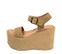 Ref: 4294 Sandalia de serraje visón con pala y pulsera al tobillo con hebilla plateada. Plataforma de serraje al tono. Altura plataforma trasera de 11 cm y plataforma delantera de 7 cm - Ítem3