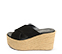 Ref: 4296 Sandalia de serraje color piedra con pala cruzada y plataforma trenzada de color beige. Altura plataforma trasera 9.5 cm y plataforma delantera de 5.5 cm - Ítem3
