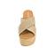 Ref: 4297 Sandalia de serraje color negro con pala cruzada y plataforma trenzada de color beige. Altura plataforma trasera de 9.5 cm y plataforma delantera de 5.5 cm - Ítem2