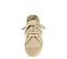Ref: 4302 Alpargata de lino color piedra con cordones al tono y plataforma de esparto. Altura plataforma de 3 cm - Ítem2