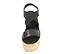 Ref: 4306 Sandalia de piel color negro. Combinado elástico con tira cruzada en el empeine. Altura plataforma trasera de 9 cm y altura plataforma delantera de 6 cm - Ítem2