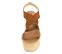 Ref: 4307 Sandalia de piel color cuero. Combinado elástico con tira cruzada en el empeine. Altura plataforma trasera de 9 cm y altura plataforma delantera de 6 cm - Ítem2