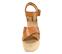 Ref: 4309 Sandalia de piel color cuero con pala cruzada y pulsera al tobillo con hebilla dorada. Plataforma de esparto color beige. Altura plataforma trasera 8.5 cm y altura plataforma delantera 5.5cm - Ítem2