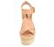 Ref: 4313 Sandalia de piel color nude con pala cruzada y pulsera al tobillo con hebilla dorada. Plataforma de esparto color beige. Altura plataforma trasera 8.5 cm y altura plataforma delantera 5.5 cm - Ítem2