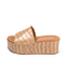 Ref. 4318 Sandalia beige con estampado coco. Pala delantera. Altura plataforma trasera 7 cm y plataforma delantera de 5 cm. - Ítem3