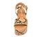 Ref. 4319 Sandalia piel marrón con estampado serpiente. Pala y pulsera al tobillo con hebilla plateada. Altura plataforma trasera 7 cm y plataforma delantera 5 cm. - Ítem2