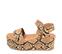 Ref. 4319 Sandalia piel marrón con estampado serpiente. Pala y pulsera al tobillo con hebilla plateada. Altura plataforma trasera 7 cm y plataforma delantera 5 cm. - Ítem3