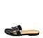 Ref. 4322 Sandalia plana de piel negro y pala en forma de H. Puntera cuadrada. - Ítem3