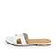 Ref. 4324 Sandalia plana de piel blanca y pala en forma de H. Puntera cuadrada. - Ítem3