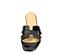 Ref. 4325 Sandalia plana con estampado coco negro. Pala en forma de H. Puntera cuadrada. - Ítem2