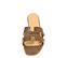 Ref. 4326 Sandalia plana con estampado coco cuero. Pala en forma de H. Puntera cuadrada. - Ítem2