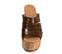 Ref. 4328 Sandalia piel cuero con estampado coco en la pala. Plataforma de caucho. Altura plataforma trasera 11 cm y plataforma delantera 5 cm. - Ítem2