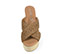 Ref. 4331 Sandalia piel trenzada en color cuero. Pala cruzada. Plataforma de rafia. Altura plataforma trasera 11 cm y plataforma delantera 5 cm. - Ítem2