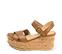 Ref. 4338 Sandalia piel cuero con pala cruzada y pulsera al tobillo con hebilla dorada. Altura plataforma trasera 8 cm y plataforma delantera 4.5 cm. - Ítem3