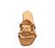 Sandalia plana piel cuero y tachas doradas - Ítem2