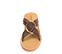 Ref. 4347 Sandalia piel marrón con pala cruzada y detalle arandela dorada. Suela de piel. - Ítem2