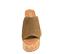 Ref. 4351 Sandalia serraje visón con pala. Plataforma de corcho. Altura pataforma trasera 10.5 cm y plataforma delantera 5 cm. - Ítem2