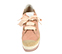 Ref. 4356 Alpargata combinada tela y nobuck rosa. Cordones rosa claro. Plataforma de esparto combinada. Altura tacón 9 cm y plataforma delantera 6 cm - Ítem2