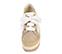 Ref. 4357 Alpargata combinada tela blanca y nobuck taupe. Cordones blancos. Plataforma de esparto combinada. Altura tacón 9 cm y plataforma delantera 6 cm. - Ítem2