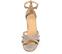 Ref. 4358 Sandalia serraje taupe con tiras en la pala y pulsera al tobillo. Hebilla dorada. Altura tacón 6.5 cm y sin plataforma delantera. - Ítem2