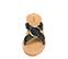 Ref. 4359 Sandalia piel negra con pala cruzada y detalle arandela dorada. Suela de piel. - Ítem2