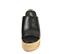 Ref. 4364 Sandalia piel negro con pala. Pataforma forrada de esparto. Altura plataforma trasera 10 cm y plataforma delantera de 5 cm. - Ítem2