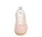 Ref. 4366 Adidas Gazelle W serraje rosa con simbolo lateral en blanco. Suela color caramelo. Cordones blancos con puntera metalizada. - Ítem2