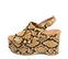 Ref. 4369 Sandalia piel con grabado serpiente en tonos marrones. Altura plataforma trasera 10 cm y plataforma delantera 5 cm. Pulsera al talón con hebilla plateada. - Ítem3
