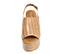Ref. 4370 Sandalia piel con grabado cocodrilo beige. Altura plataforma trasera 10 cm y plataforma delantera 5 cm. Pulsera al talón con hebilla plateada - Ítem2