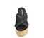 Ref. 4372 Sandalia piel negro trenzada con pala cruzada. Plataforma de rafia . Altura trasera 10 cm y plataforma delantera 5 cm. Plantilla de piel. - Ítem2