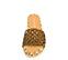 Ref. 4379 Sandalia plana con pala trenzada color cuero. Detalle suela de esparto combinada en blanco, cuero y beige. - Ítem2