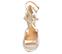 Ref. 4383 Sandalia piel plata. Dos tiras al tobillo con hebillas doradas. Altura tacón 8 cm y sin plataforma delantera. - Ítem2