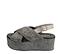 Ref. 4387 Sandalia piel trenzada color gris con pala cruzada y tira trasera con hebilla plateada. Plataforma forrada rafia. Altura trasera 6.5 cm y plataforma delantera 5 cm. - Ítem3