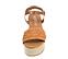 Ref. 4388 Sandalia piel trenzada color cuero. Pulsera al tobillo color cuero con hebilla plateada. Plataforma forrada de rafia. Altura plataforma trasera 6.5 y delantera 5 cm. - Ítem2