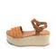 Ref. 4388 Sandalia piel trenzada color cuero. Pulsera al tobillo color cuero con hebilla plateada. Plataforma forrada de rafia. Altura plataforma trasera 6.5 y delantera 5 cm. - Ítem3