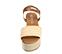 Ref. 4389 Sandalia piel trenzada color natural. Pulsera al tobillo color cuero con hebilla plateada. Plataforma forrada de rafia. Altura plataforma trasera 6.5 y delantera 5 cm. - Ítem2