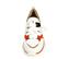 Ref. 4392 Sneaker piel blanca con detalles serraje beige y rojo. Suela blanca en bloques. Altura trasera 4.5 cm y delantera de 2.5 cm. - Ítem2