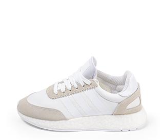 Ref. 4401 Adidas I-5923 serraje serraje beige con detalles en blanco. Suela blanca.
