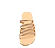 Ref. 4406 Sandalia piel cuero con 5 tiras en la pala y detalle diamantes. Plantilla de piel. Suela plana. - Ítem2
