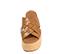 Ref. 4413 Sandalia piel cuero con pala trenzada. Plataforma de saco. Altura plataforma trasera 6.5 cm y plataforma delantera 5 cm. - Ítem2