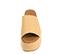 Ref. 4422 Sandalia saco beige con pala. Plataforma de saco. Altura plataforma trasera 6.5 cm y plataforma delantera 5 cm. - Ítem2