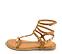 Ref. 4430 Sandalia piel cuero estilo romana con detalle piramides doradas. Tiras con 3 hebillas al tobillo. - Ítem3