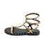 Ref. 4431 Sandalia piel con estampado serpiente estilo romana con detalle piramides doradas. Tiras con 3 hebillas al tobillo. - Ítem3