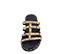 Ref. 4432 Sandalia piel con grabado serpiente y detalle piramides doradas. - Ítem2