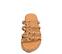 Ref. 4434 Sandalia piel cuero con detalle piramides doradas. - Ítem2