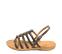 Ref. 4436 Sandalia piel gris con tiras tipo romana y pulsera al talón con hebilla plateada. Plantilla de piel. - Ítem3