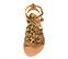 Ref. 4438 Sandalia potro leopardo con tiras tipo romana y tiras al tobillo con hebilla dorada. Plantilla de piel. - Ítem2