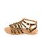 Ref. 4438 Sandalia potro leopardo con tiras tipo romana y tiras al tobillo con hebilla dorada. Plantilla de piel. - Ítem3