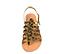 Ref. 4439 Sandalia potro leopardo con tiras tipo romana y pulsera al talón con hebilla dorada. Plantilla de piel. - Ítem2